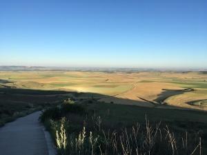 Blick vom Alto de Mostelares in Richtung Itero de la Vega