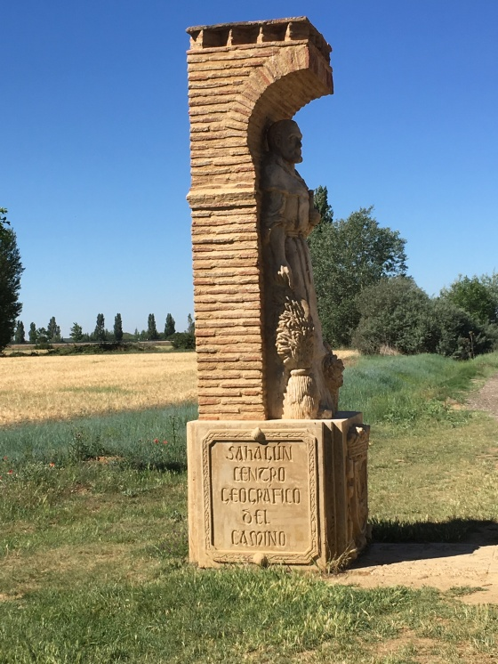 Geographische Mitte des Camino